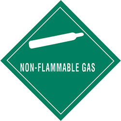 "4"" x 4"" - ""Non-Flammable Gas"" Labels"