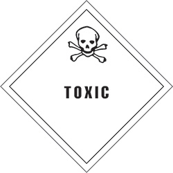 "4"" x 4"" - ""Toxic"" Labels"