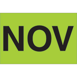 "2"" x 3"" Green - ""NOV"" Months of the Year Labels"