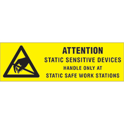 "5/8"" x 2"" - ""Attention - Static Sensitive Devices"" Labels"