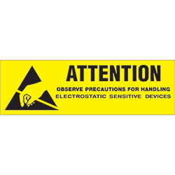 "5/8"" x 2"" - ""Attention - Observe Precautions"" Labels"