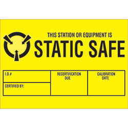 "1 3/4"" x 3"" - ""Static Safe"" Labels"