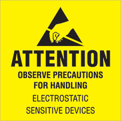 "4"" x 4"" - ""Attention - Observe Precautions"" Labels"