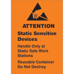 "1 3/4"" x 2 1/2"" - ""Static Sensitive Devices"" Labels"