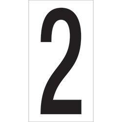 "3 1/2"" ""2"" Vinyl Warehouse Number Labels"