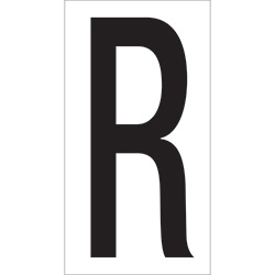 "3 1/2"" ""R"" Vinyl Warehouse Letter Labels"