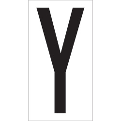 "3 1/2"" ""Y"" Vinyl Warehouse Letter Labels"