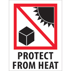 "3"" x 4"" - ""Protect from Heat"" Labels"