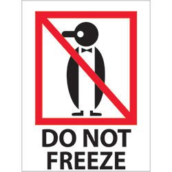 "3"" x 4"" - ""Do Not Freeze"" Labels"