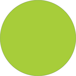 "2"" Fluorescent Green Inventory Circle Labels"