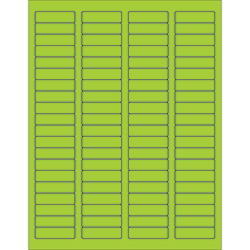"1 3/4 x 1/2"" Fluorescent Green Rectangle Laser Labels"