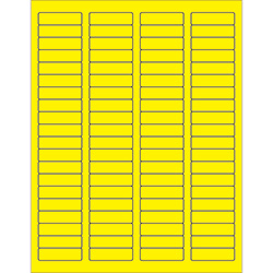"1 3/4 x 1/2"" Fluorescent Yellow Rectangle Laser Labels"
