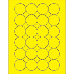 "1 2/3"" Fluorescent Yellow Circle Laser Labels"
