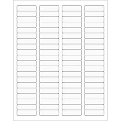"1 3/4 x 1/2"" Clear Rectangle Laser Labels"