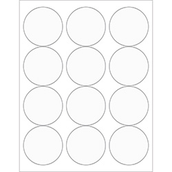 "2 1/2"" Clear Circle Laser Labels"