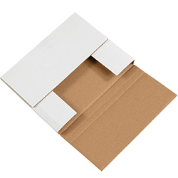 "10 1/4"" x 8 1/4"" x 1 1/4"" White Corrugated Bookfolds"