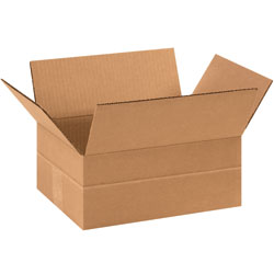 "11 3/4"" x 8 3/4"" x 4 3/4"" Multi-Depth Corrugated Boxes"