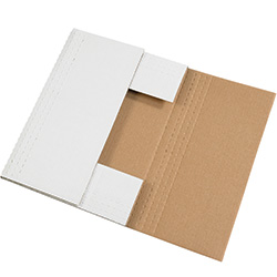 "15"" x 11 1/8"" x 2"" White Corrugated Bookfolds"