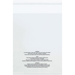 "12 x 16"" - 1.5 Mil (100 Pack) Resealable Suffocation Warning Poly Bags"