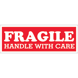 "1 1/2"" x 4"" - ""Fragile - Handle With Care"" Labels"