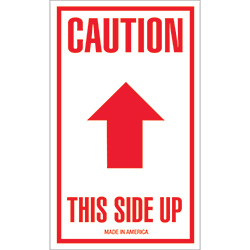 "3 x 5"" - ""Caution - This Side Up"" Arrow Labels"