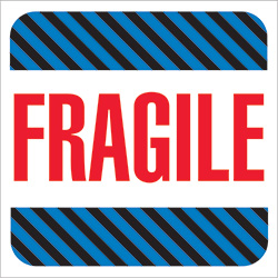 "4"" x 4"" - ""Fragile"" Labels"