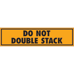 "2"" x 6"" - ""Do Not Double Stack"" Labels"