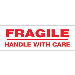 "2"" x 110 yds. - ""Fragile Handle With Care"" (6 Pack) Pre-Printed Carton Sealing Tape"