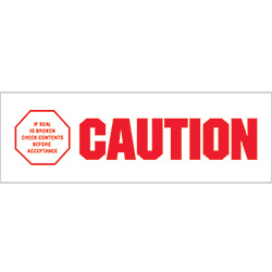 "2"" x 110 yds. - ""Caution - If Seal Is Broke"" (18 Pack) Pre-Printed Carton Sealing Tape"