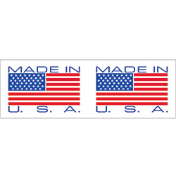 "2"" x 110 yds. - ""Made in USA"" Pre-Printed Carton Sealing Tape (2.0 Mil)"