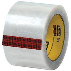 "3"" x 55 yds. Clear 3M - 355 Carton Sealing Tape (3.5 Mil)"