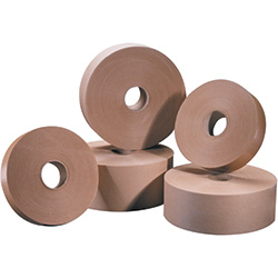 "2"" x 600' Kraft Tape Logic® #6000 Non Reinforced Water Activated Tape"