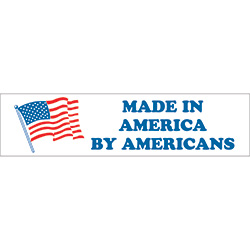 "2"" x 6"" - ""Made in America by Americans"" Labels"