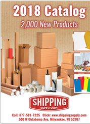 2018 Shipping Supply Catalog